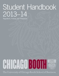 Regulations, Policies, and Procedures - Chicago Booth Portal - The ...