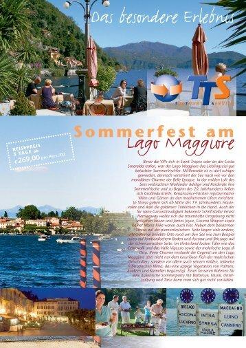 Sommerfest am Lago Maggiore - TTS-Gruppenreisen