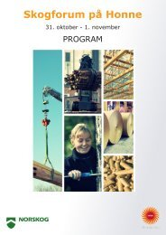 Program Skogforum Honne høst 2012.indd - Skogbrukets kursinstitutt