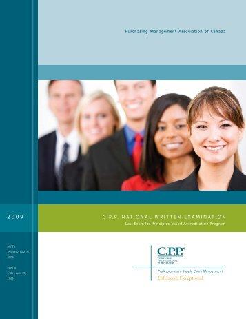 C.P.P. NATIONAL WRITTEN EXAMINATION