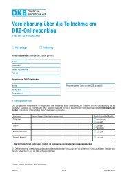 Vereinbarung über die Teilnahme am DKB-Onlinebanking