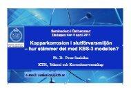 Kopparkorrosion i slutförvarsmiljön – hur stämmer det med KBS-3 ...