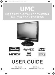 hd ready digital lcd tv/dvd & built in dock for ipod - UMC - Slovakia