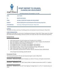 Staff Report - Summary of Building Permits Issued in May 2013