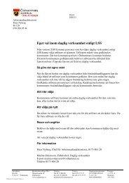Villkor för godkännande av utförare - Östhammars kommun