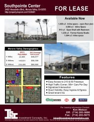 Southpointe Center - City of Moreno Valley