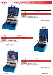 Cutting Drill & Tap Sets - Bellscott.ie