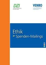 Ethik in Spenden-Mailings - Deutsches Zentralinstitut für soziale ...