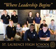 Walk With Us - St. Laurence High School