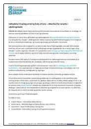 Indbydelse til oplæg omkring Duty of Care – sikkerhed for ansatte i ...