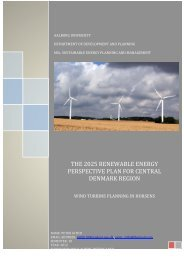 the 2025 renewable energy perspective plan for central den