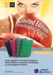 Unser Angebot für Umsatz-Champions: Limited Edition in aktuellen ...