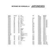RETENES DE HORQUILLA JAPONESES - Moto Recambio