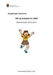 BUDSJETT 2009 - Kongsvinger Kommune