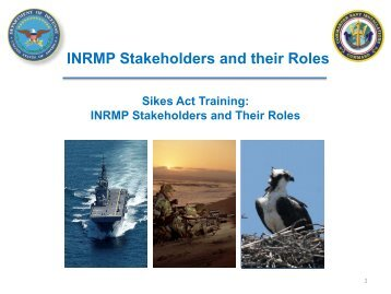 INRMP Stakeholders and their Roles - Dodworkshops.org