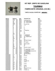 kit rep. grifo de gasolina  tourmax fabricante original - Moto Recambio