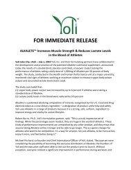 Increases Muscle Strength - Yoli