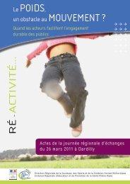 Le poids, un obstacle au mouvement - Education santé Rhône-Alpes