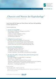 """""""chancen und nutzen der Kapitalanlage"""" - Deutsche Makler Akademie"""