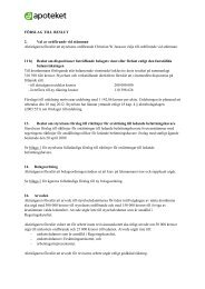 Förslag till beslut - Apoteket