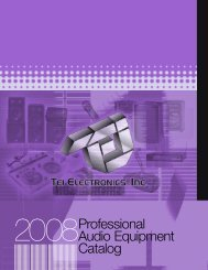 2008Professional Audio Equipment Catalog - Tei Lighting Products