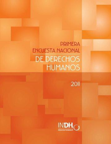 Resultados de la Primera Encuesta Nacional de Derechos Humanos.