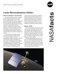 LRO Fact Sheet - Lunar Reconnaissance Orbiter Camera