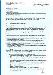 Besluit - Provincie Drenthe