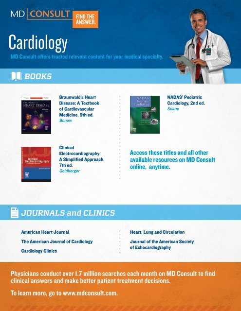 MD Consult Cardiology Flyer