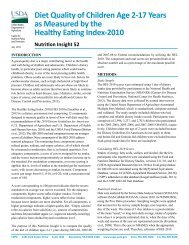 CNPP releases Nutrition Insight 52: Diet Quality of Children Age 2