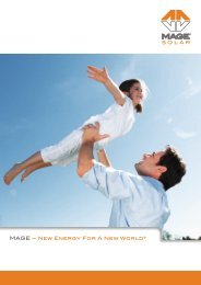 MAGE – New Energy For A New World® - Mage Solar