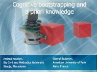Cognitive bootstrapping and a priori knowledge