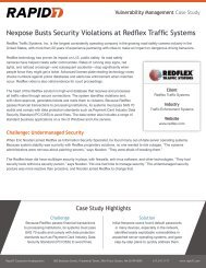 NeXpose Data Sheet - Rapid7