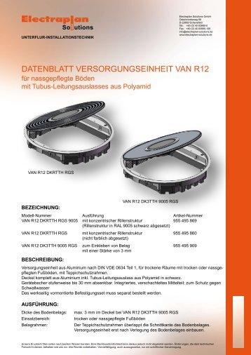 DATEnblATT VERSORGUnGSEinHEiT VAn R12