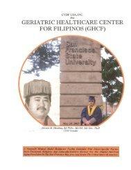 GERIATRIC HEALTHCARE CENTER FOR FILIPINOS