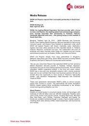 Press release - DKSH.com