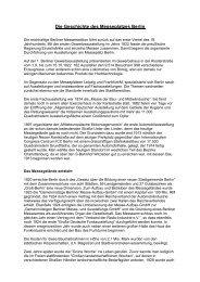 gesamte geschichtliche Entwicklung - Messe Berlin