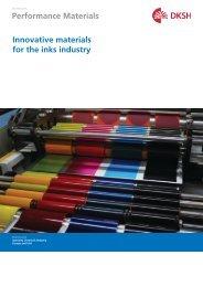 Inks Industry Brochure (PDF, 0.32 M) - DKSH Great Britain