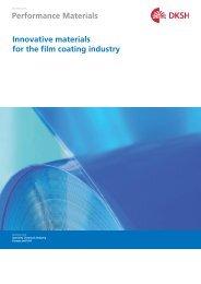Film Coating Industry Brochure (PDF, 0.25 M) - DKSH Great Britain