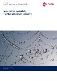 Adhesives Industry Brochure (PDF, 0.49 M) - DKSH Great Britain