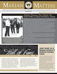 Hall of Fame - Marian Catholic High School