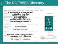 The DC-THERA Directory: A Knowledge Management System to ...