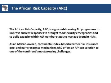 How the Africa Risk Capacity connects contingency planning with ...
