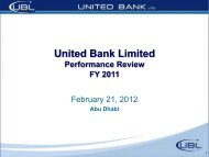 Annual 11 Results - United Bank Limited