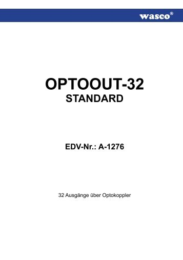 OPTOOUT-32 STANDARD EDV-Nr.: A-1276 - Messcomp ...