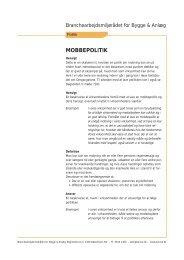68. 72. 67. 64. 60. 46. MOBBEPOLITIK - BAR Bygge & Anlæg