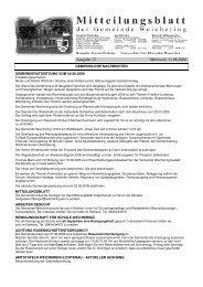 Ausgabe 12 Mittwoch, 11.06.2008 - Weichering