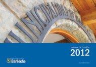 Informe Gestión 2012 parte 2 - Bariloche
