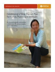 Developing a Total Market Plan for Family Planning in Vietnam