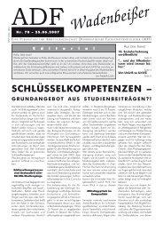 Wadenbeißer Nr. 70 vom 25.06.2007 [PDF] - ADF ...